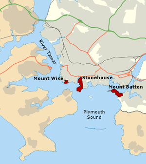 Plymouth Development Corporation - A map of Plymouth showing the three designated areas in red