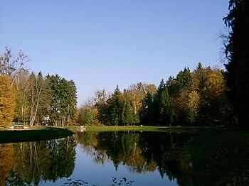 Polski: Park Zdrojowy - staw