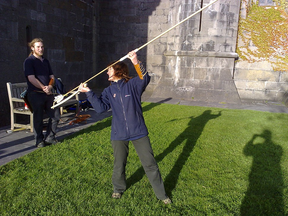 Poised to launch a dart from an atlatl
