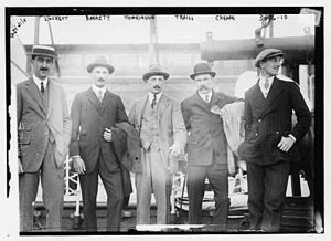 Vivian Lockett - Vivian Noverre Lockett, Frederick W. Barrett, Henry Archdale Tomkinson, John Traill, and Leslie Cheape, the team captain, arriving with the RMS ''Carmania'' on 1 June 1914 to play in the International Polo Cup that will be held at the Meadowbrook Polo Club