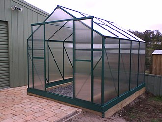 Polycarbonate - Polycarbonate sheeting in a greenhouse
