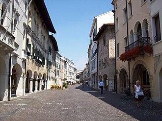 Pordenone - Corso Vittorio Emanuele II, the main street in the historical center of Pordenone.