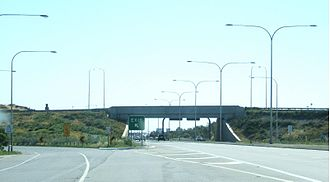 Wingfield, South Australia - Intersection of Port River Expressway and South Road, looking west along the Port River Expressway