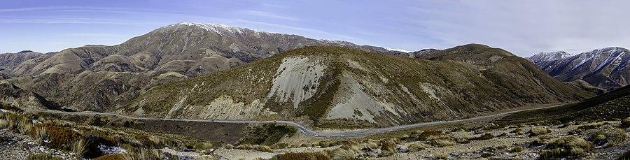 Porters Pass with Big Ben Range, Torlesse Range, New Zealand