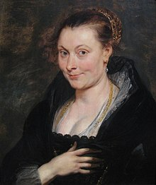 Isabella Brant died 15 July Portrait of Isabella Brant by Peter Paul Rubens.jpg