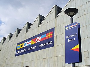 Portsmouth Historic Dockyard - Signage on Boathouse 4