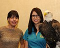 Posing for picture with Bald Eagle. (10596448286).jpg
