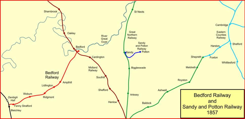 Potton rly 1857