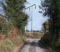 Powerlines crossing the Llangybi road at Ty'n Rhos - geograph.org.uk - 1779086.jpg