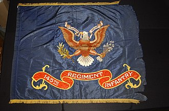 145th Armored Regiment - Pre-1928 Regimental Colors of the 145th Infantry Regiment