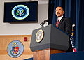 President Barack Obama speaking on the military intervention in Libya at the National Defense University 4.jpg