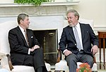 President Ronald Reagan Meeting with Judge Robert Bork in The Oval Office.jpg