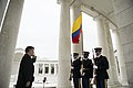 President of Colombia lays a wreath at the Tomb of the Unknown Soldier in Arlington National Cemetery (24818000465).jpg