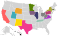 Presidential Candidate Home State Locator Map, 2012 (United States of America) (Expanded).png