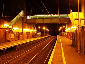 Prestwick International Airport railway station - The station at night