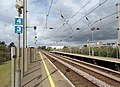 Prestwick International Airport railway station - view towards Troon on the up platform.jpg
