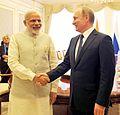 Prime Minister Narendra Modi and Russian President Vladimir Putin meet on the sidelines of SCO Summit in Tashkent.jpg