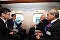 Prime Minister Narendra Modi travels to Kobe with Japanese PM Abe, on board a Shinkansen bullet train.jpg