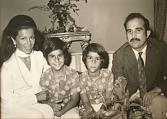 Princess Firyal - Princess Firyal with Prince Muhammad bin Talal and their sons Prince Talal and Prince Ghazi