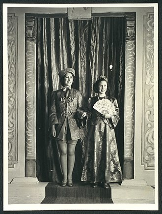 Pantomime - Princesses Elizabeth and Margaret in a Windsor Castle wartime performance of Aladdin