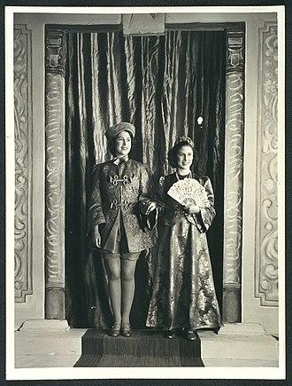 Pantomime - Princesses Elizabeth and Margaret in a Windsor Castle wartime performance of Aladdin