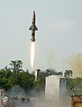 Prithvi-II Missile launched from Chandipur Range on August 12, 2013.jpg