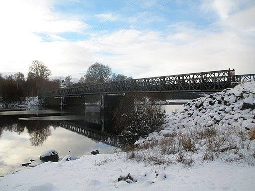 Private road bridge over Loch Garry - geograph.org.uk - 2187131