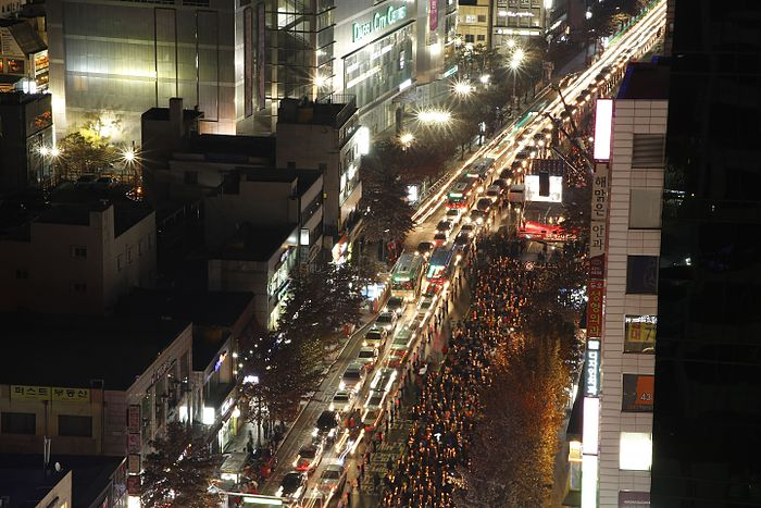 Protest for resign of President Park In Daegu 20161203 Street View.jpg