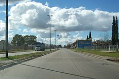 Provincial Route 215 in Lisandro Olmos, Buenos Aires, Argentina.jpg