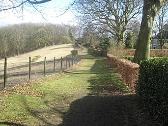 Quarndon - Image: Public footpath, Quarndon, Derbyshire (geograph 1817521)
