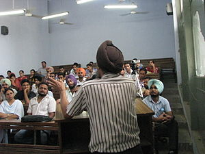 Education in Punjab, India - School workshop
