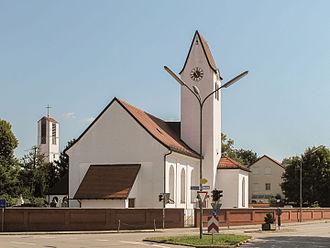 Putzbrunn - Putzbrunn, church: die Sankt Stephan Kirche