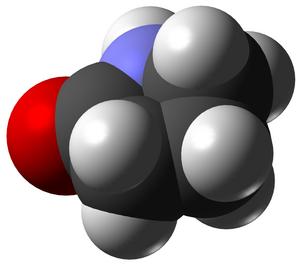 2-Pyrrolidone - Image: Pyrrolidone 3D vd W