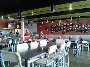 Qdoba - Interior of a Qdoba restaurant, Woodbridge, Virginia