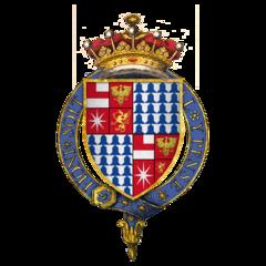 braços esquartejado de Sir Anthony Woodville, segundo Rivers Earl, KG.png