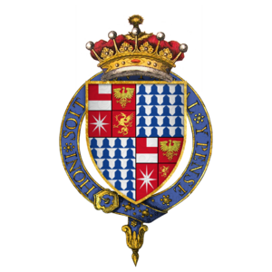 Anthony Woodville, 2nd Earl Rivers - Quartered arms of Sir Anthony Woodville, 2nd Earl Rivers, KG