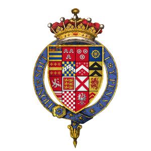 Edward Manners, 3rd Earl of Rutland - Quartered arms of Sir Edward Manners, 3rd Earl of Rutland, KG