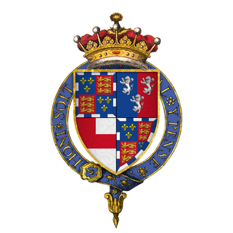 Edward Somerset, 4th Earl of Worcester - Quartered arms of Sir Edward Somerset, 4th Earl of Worcester, KG
