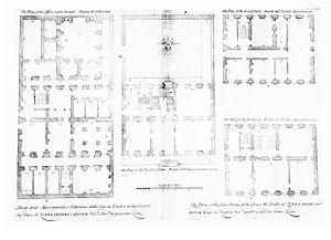 7 Burlington Gardens - Image: Queensberry House plans