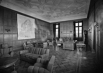 Quisling regime - Quisling's former office at the Royal Palace, in June 1945