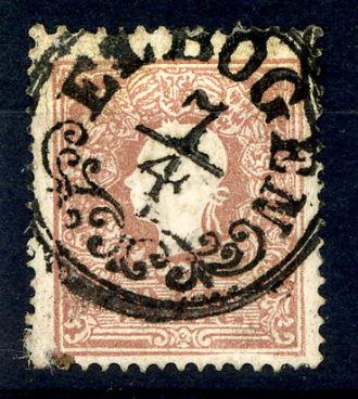 Loket (Sokolov District) - Franz-Jozeph and decorated cancellation ca 1860