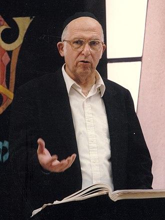 Aharon Lichtenstein - Rav Aharon Lichtenstein teaching at Yeshivat Har Etzion