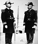 RA Frank F. Fletcher and RA Charles J. Badger following Fletcher assuming command, 1914 (24642194184).jpg