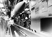 RIM-67 Standard missiles are loaded on the missile house rail aboard USS Mahan (DDG-42) on 1 March 1983 (6370831)