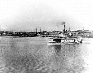 R.P. Rithet (sternwheeler) - R.P. Rithet at Victoria, BC 1882