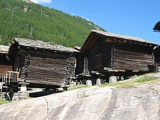 Saas-Fee - Traditional raccard granaries