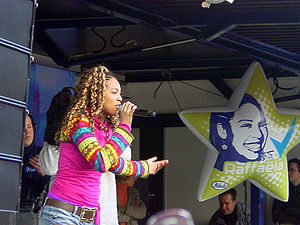 Raffaëla Paton - Raffaëla during a promotion tour