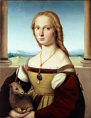Young Woman with Unicorn - Image: Raffael 046