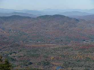 Ragged Mountain (New Hampshire) - Ragged Mountain as seen from Mount Kearsarge