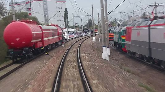 Файл:Railway test circuit in Shcherbinka - track 1.webm